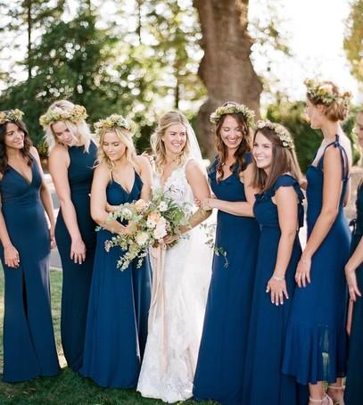 платье для подруг невесты синие