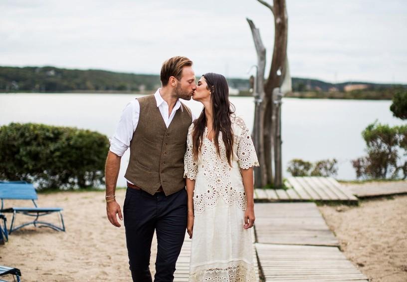 жених и невеста, молодожёны, поцелуй пары