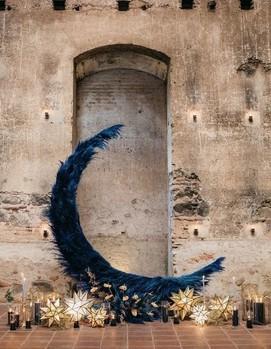 свадебная арка синяя