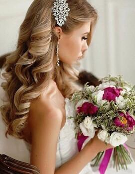 накрутка локоны на свадьбу