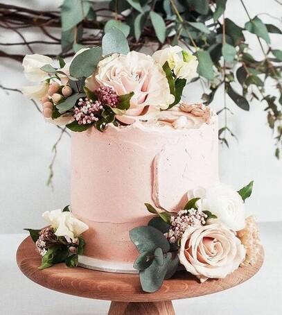 торт свадебный маленький