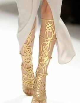 свадьба в греческом стиле , обувь невесты в греческом стиле