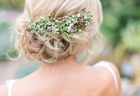 причёса невесты в стиле шебби-шик