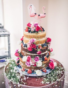 свадебный торт в ретро стиле