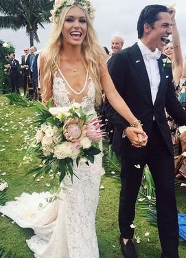 платье невесты в стиле шебби-шик