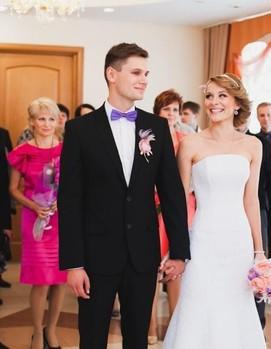 свадебная церемония, загс, роспись, свадьба
