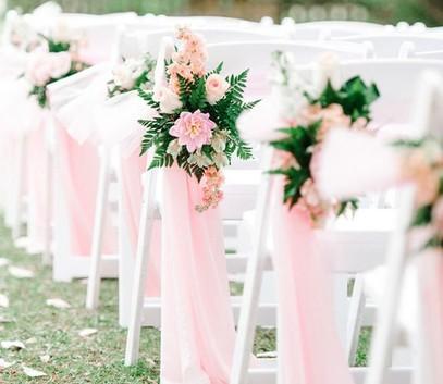 свадебный декор в розовом цвете