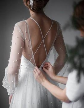 свадебной жемчужное платье