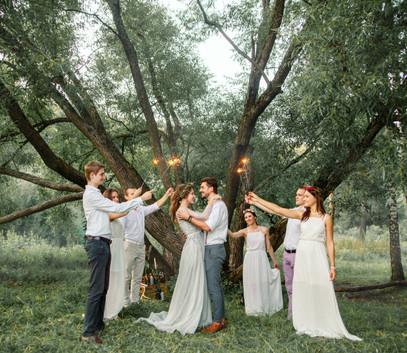свадьба на природе, первый свадебный танец