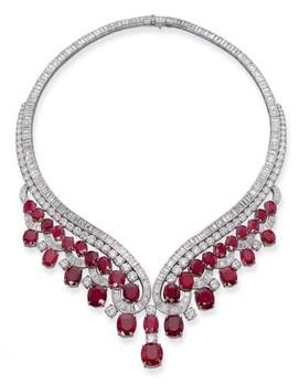 ожерелье с рубинами