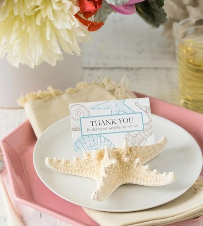 презенты для гостей, свадебный декор, оформление свадебного банкета, ракушка, свадьба с морской тематикой, морская звезда в декоре