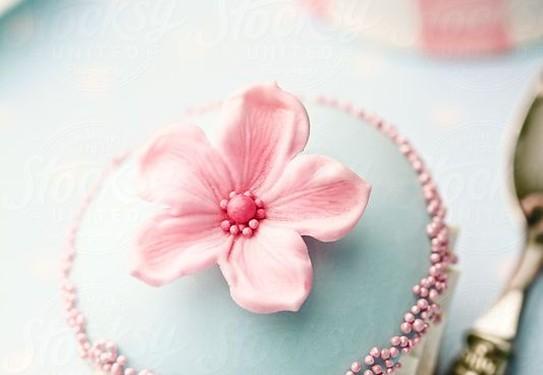 сладкий стол в розово-голубых цветах