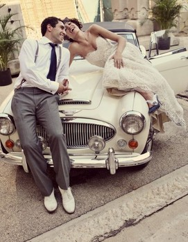 авто на свадьбу в стиле шебби-шик