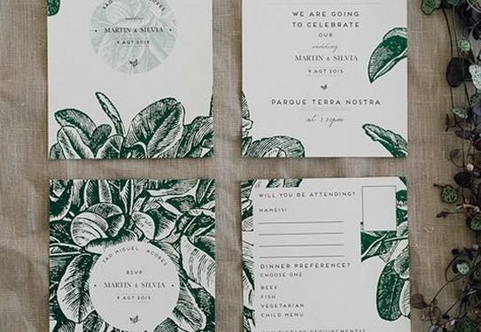 Монохромные пригласительные на свадьбу гравюра