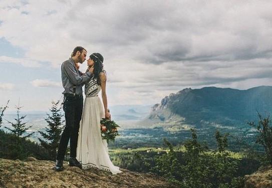 свадебная фотосессия в горах