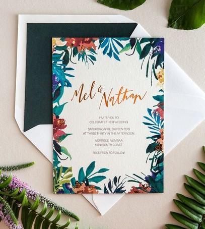 Пригласительные на свадьбу тропики