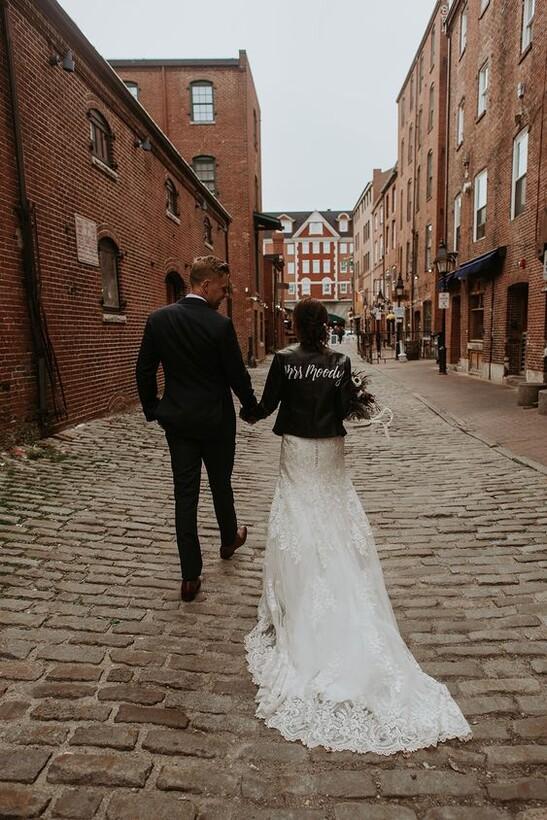 Образ невесты в стиле Урбан-шик Контраст