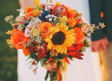 Цвет свадьбы –  жизнерадостный Оранжевый