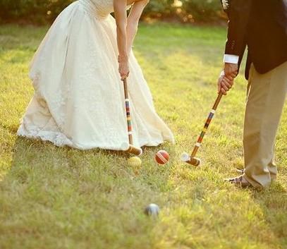 свадебный развлечения на свежем воздухе, гольф, крокет