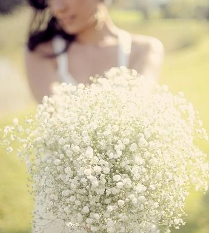 букет невесты из гипсофилы, невеста 2019, свадебный букет