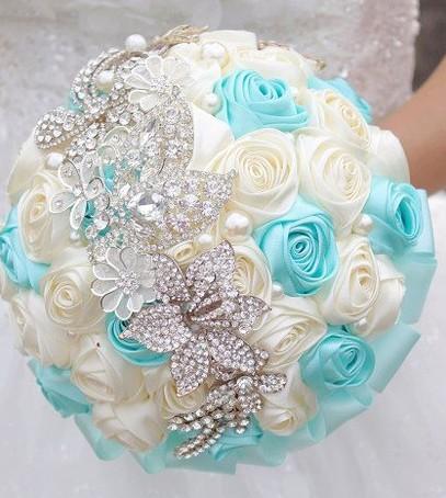 свадьба в стиле тиффани, ретро-свадьба, букет невесты в стиле тиффани
