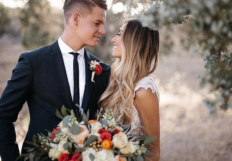 свадебное фото, пара, молодожёны