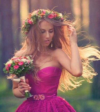 свадьба в цвете фуксия