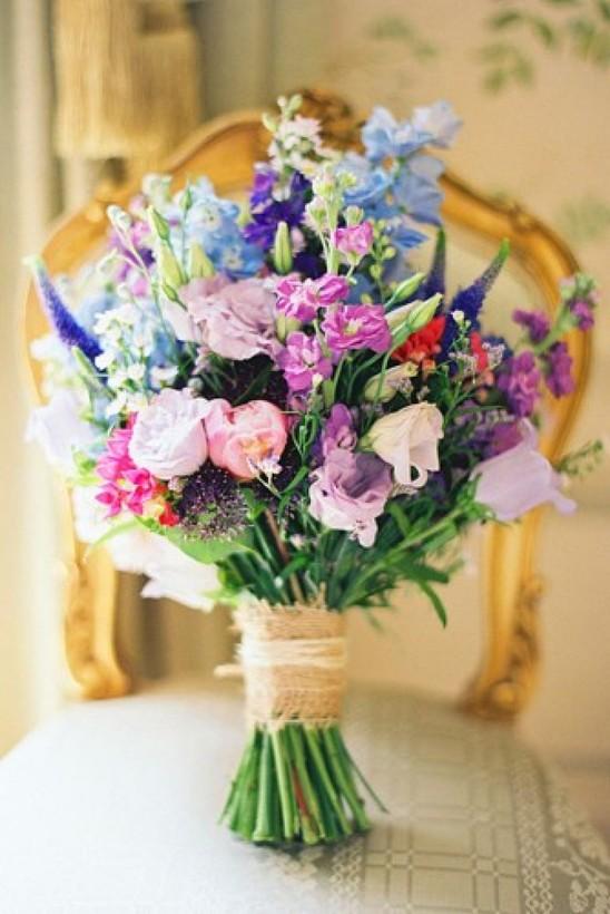 Свадебный букет невесты из полевых цветов 73