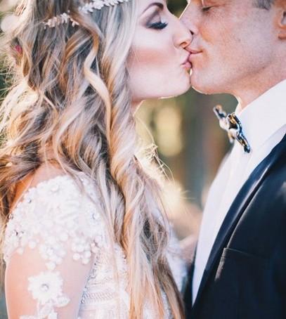 жених и невеста, поцелуй, свадьба, нежность