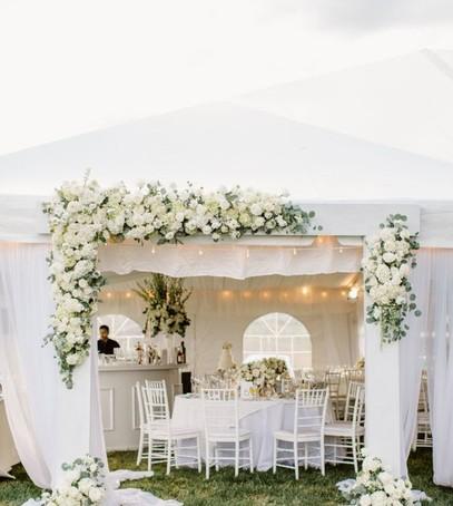 свадьба на природе, свадебный банкет