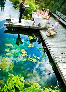 свадьба у реки, выездная роспись