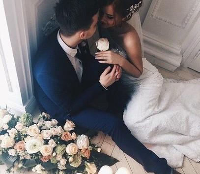 жених и невеста милое фото