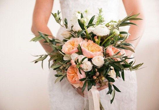 свадьба в греческом стиле , букет невесты в греческом стиле