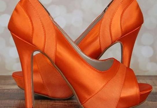 туфли в оранжевом цвете