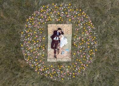 Дрон на свадьбе: как отснять крутые кадры с высоты