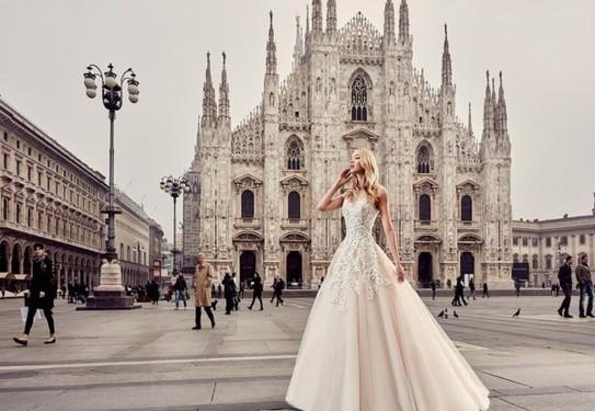 Длинное свадебное платье 2017