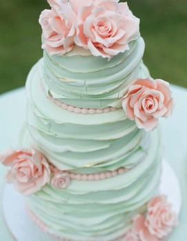торт на свадьбу в стиле шебби-шик