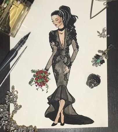 эскиз свадебного платья, свадебное платье, платье на свадьбу рисунок