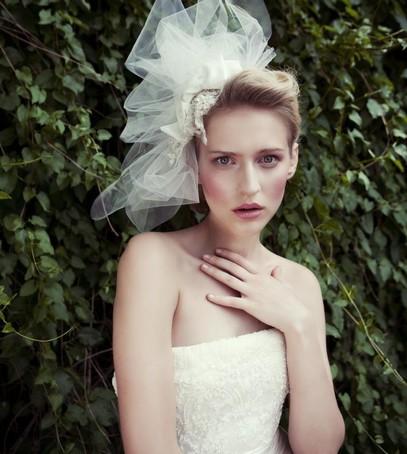 невеста, свадебный образ, фата-пуф, короткая фата