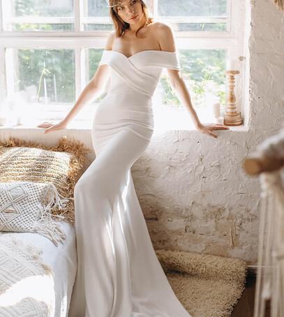 элегантное свадебное платье украина