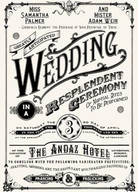 свадебные пригласительные в ретро стиле