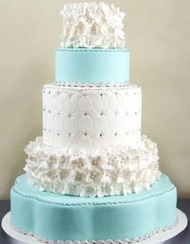 свадьба в стиле тиффани, ретро-свадьба, торт в стиле тиффани
