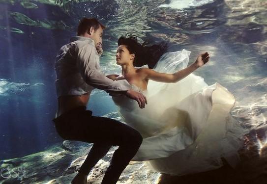 свадебная фотосессия под водой