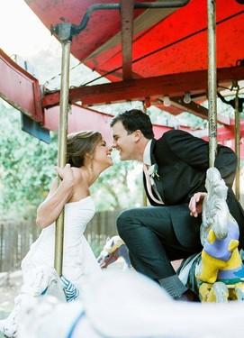 Свадьба в парке равлечений