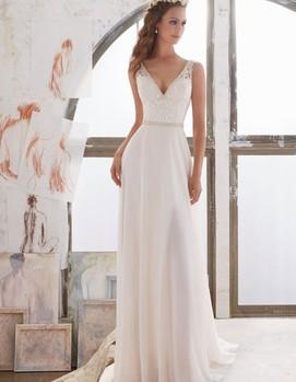 Прямое свадебное платье 2017