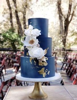 свадебный торт синий