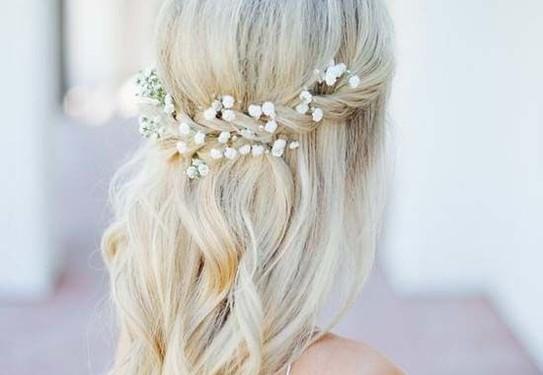 причёска невесты в стиле шебби-шик