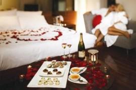 Забронировать номер в гостинице для первой брачной ночи.