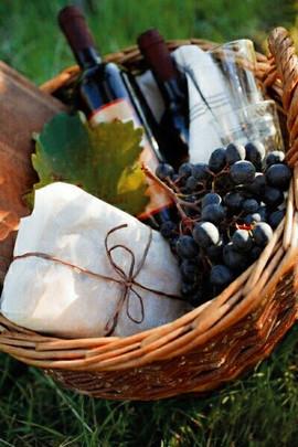 Подготовить посуду, еду, воду и шампанское для свадебной прогулки.