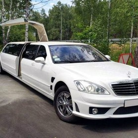 029 Лимузин Mercedes W221 S63 белый - авто на свадьбу в Киеве - портфолио 1